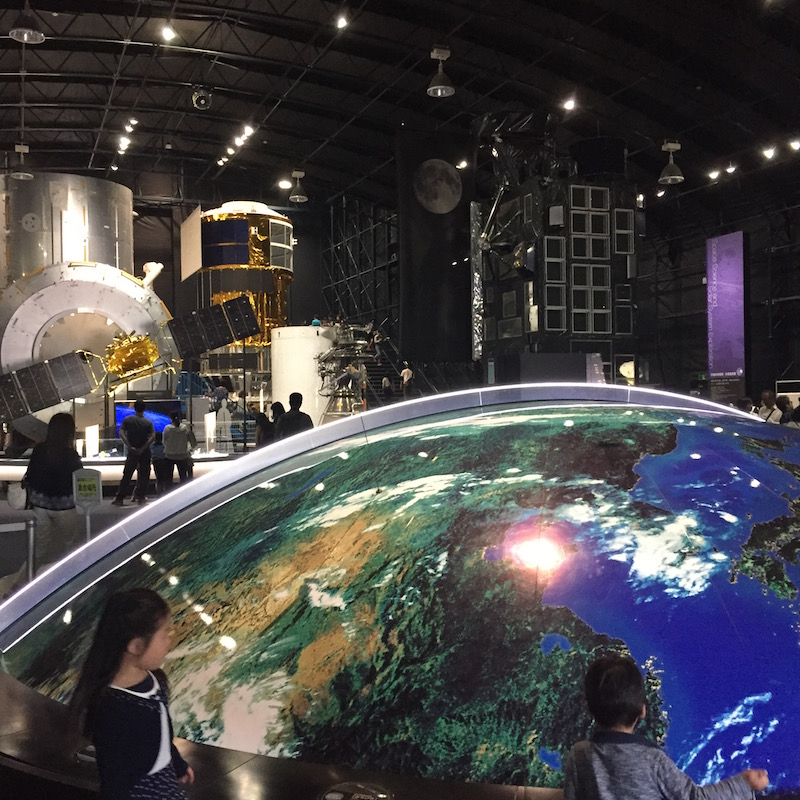 JAXA Tsukuba Space Center's exhibition hall tour is  free!