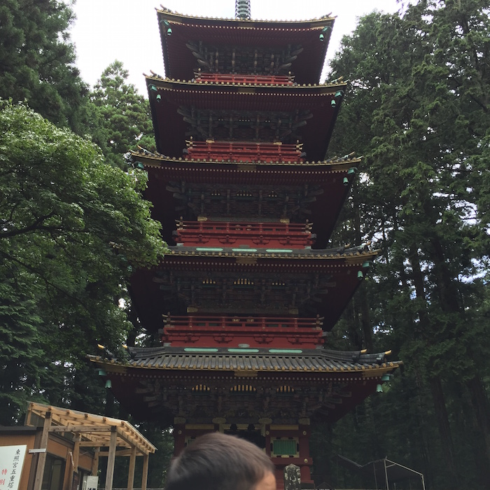 Nikko Toshogu, we can enjoy a five-story pagoda with an admission fee of 1300 yen